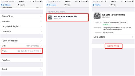 how to install profile on iphone how do i remove the ios beta software profile from my