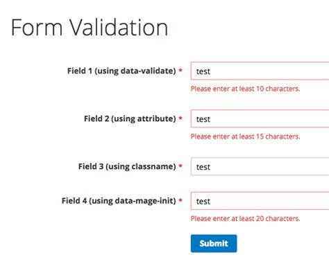 validate a custom form in magento 2 magento share