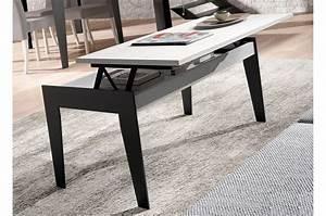Table Basse Fer Et Bois : table basse en bois et fer relevable aden 2920 cbc meubles ~ Teatrodelosmanantiales.com Idées de Décoration