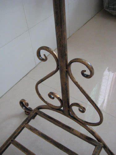 antique bronze clothes coat garment cloth wardrobe clothing hanging rail rails rack racks stand