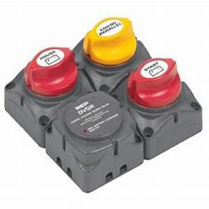 Bep Marinco Battery Switch Cluster With Digital Vsr