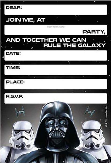 wars template free printable wars birthday invitations template updated free invitation templates