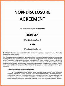 9 financial non disclosure agreement template purchase With financial non disclosure agreement template