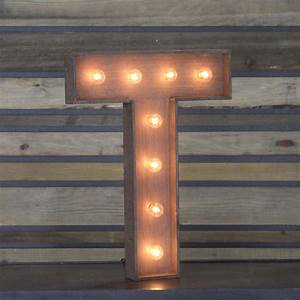 "Edison Marquee Letter - ""T"" Town & Country Event Rentals"
