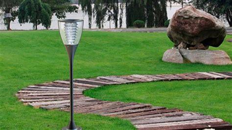 lampara solar  jardin  alumbrado publico youtube