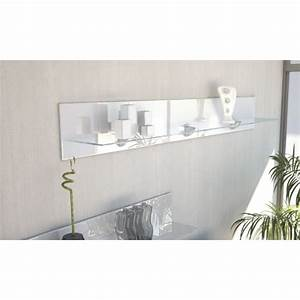 Etagere Blanche Et Bois : etag re design en bois et verre blanche avec led 146 cm ~ Teatrodelosmanantiales.com Idées de Décoration
