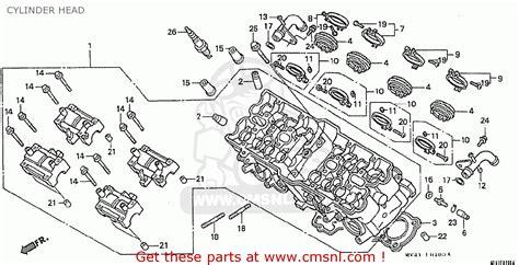 honda cbr400rr 1992 n domestic nc29 105 cylinder head buy cylinder head spares online