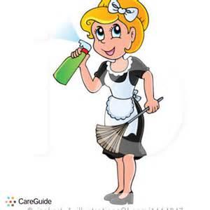 Cartoon Maid Housekeeping