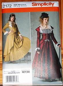 Simplicity 2172 pattern Steampunk or Victorian dress gown ...
