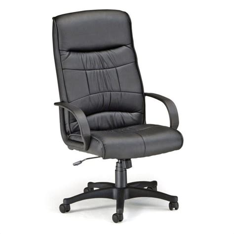 encore leatherette high back executive office chair in