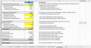 Kalkulation Rechnung : excel vorlage stundensatz kalkulation ~ Themetempest.com Abrechnung