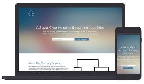 Landing Page Template Examples Xtensio
