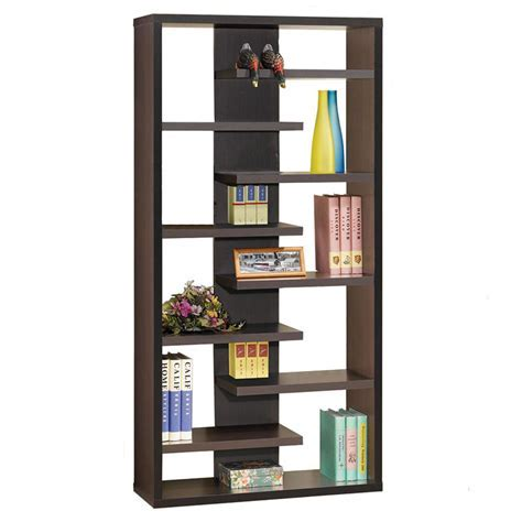 Modern Shelving   Staggered Bookcase   Eurway Furniture