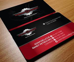 Masculine modern business card design for adam deluccie for Diesel mechanic business cards