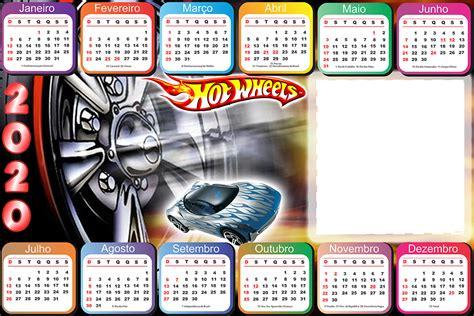 calendario hot whells png horizontal imagem legal