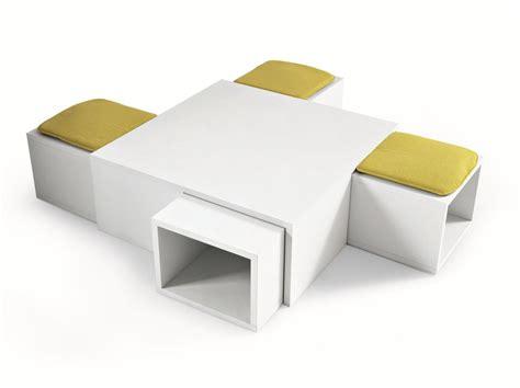 table basse avec pouf integre pouf coffee table 1 4 by misuraemme design renato forti