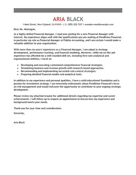 cover letter templates printable finance manager