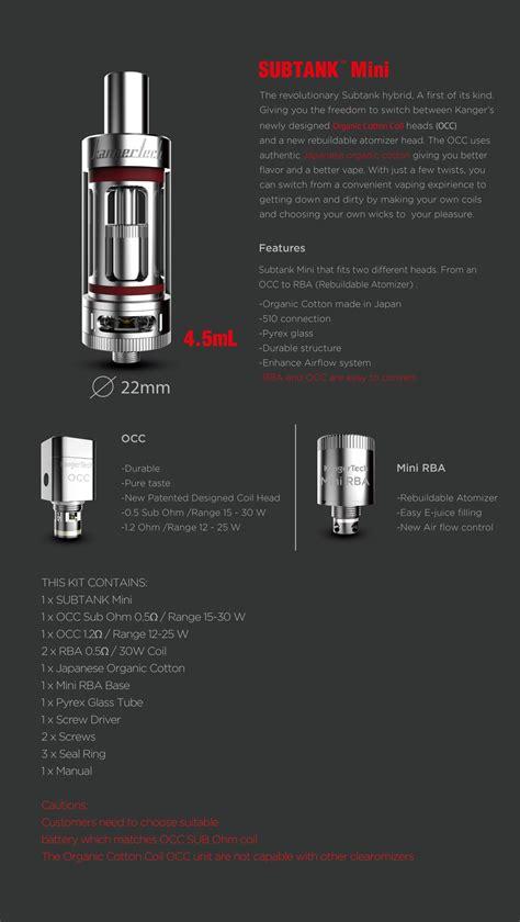 griffin mini 25mm top airflow authentic kanger subtank mini vaper