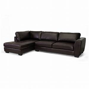 Baxton studio orland leather modern sectional sofa home for Design studio sectional sofa