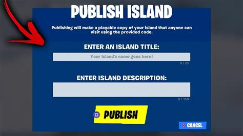 publish  creative island  map codes