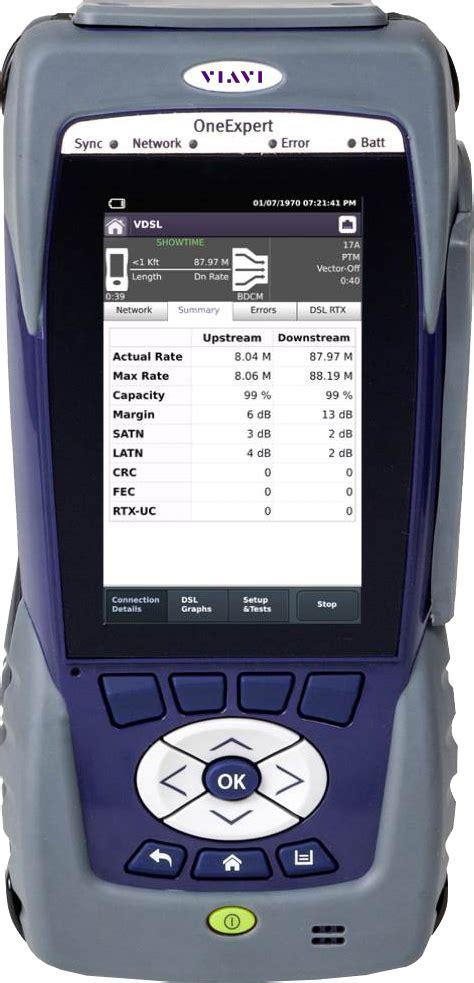 oneexpert dsl modular field test platform  gfast xdsl