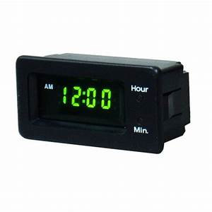12v 12 Hour Clock  Panel Mount Lq1200l