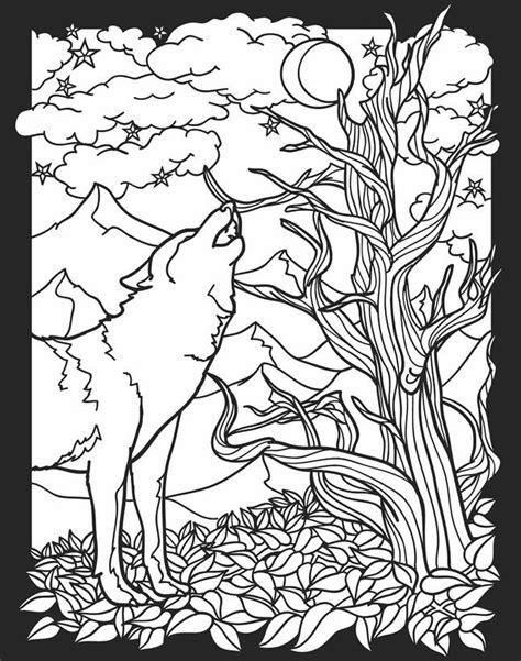 creatures of the night stained glass coloring book color