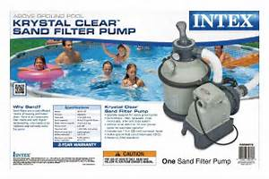 Intex 1200 Gph Krystal Clear Above Ground Pool Sand Filter