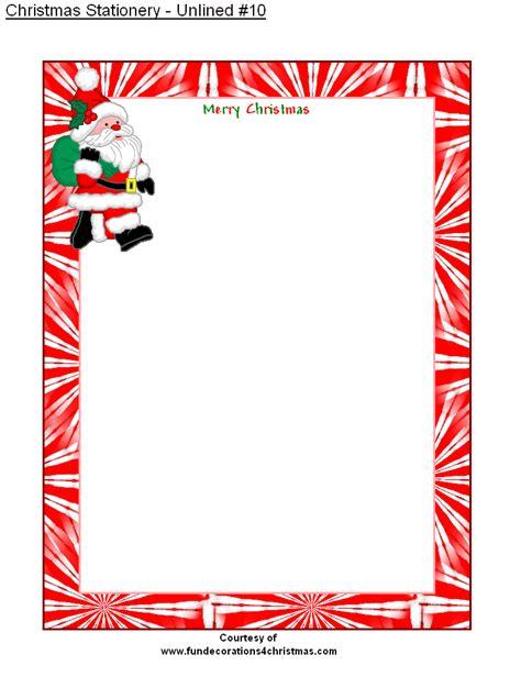 printable unlined christmas stationery ho ho ho