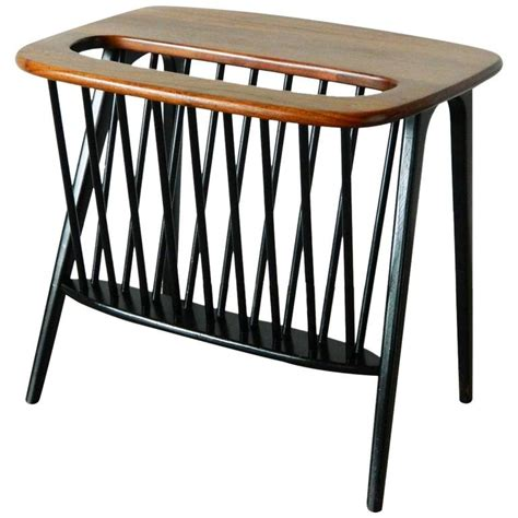side table with l and magazine rack arthur umanoff magazine stand and side table at 1stdibs