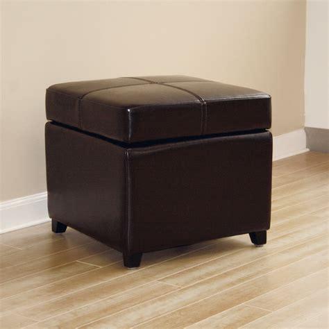 Cube Leather Ottoman by Baxton Studio Leather Storage Cube Ottoman Ebay