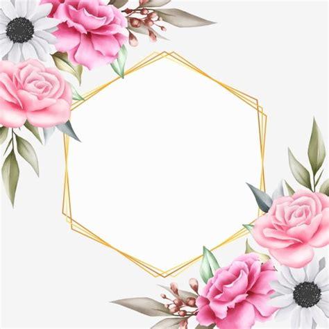 beautiful floral background  geometric  invitation