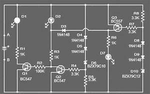 Electro  Rangkaian Monitor Status Battery 12 Volt