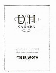 De Havilland Canada Tiger Moth Dh 82c Manual Of