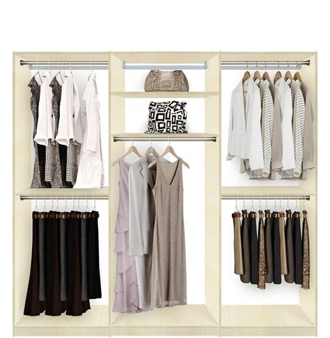 isa custom closets hanging clothes storage
