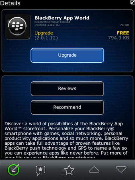 blackberry app world v2 0 1 12 now available for crackberry