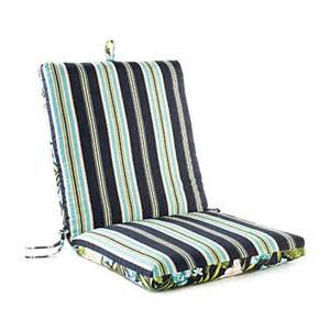 leela floral stripes reversible outdoor chair cushion