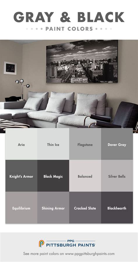 gray black paint color inspiration gray whispers