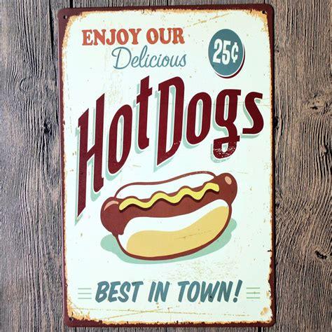 plaque deco cuisine retro vintage retro metal tin sign poster plaque bar pub