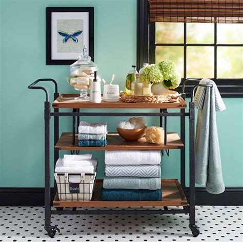 better homes and gardens rustic country bar cart antiqued