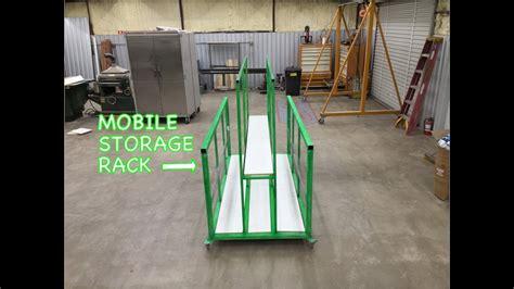 sheetmetal storage rack  wheels metalwork monday youtube