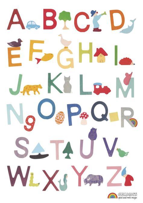 wonderful poster showing grimms german alphabet