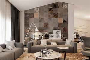 Wandgestaltung Mit Steinen : wandgestaltung f rs wohnzimmer 36 kreative und ideenreiche beispiele ~ Markanthonyermac.com Haus und Dekorationen
