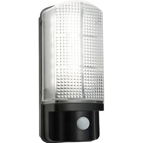 sella led pir exterior wall light with frosted