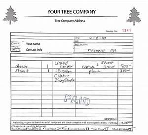 form center With tree work invoice