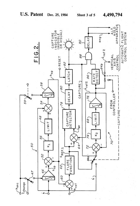 Patent US4490794 - Altitude preselect system for aircraft