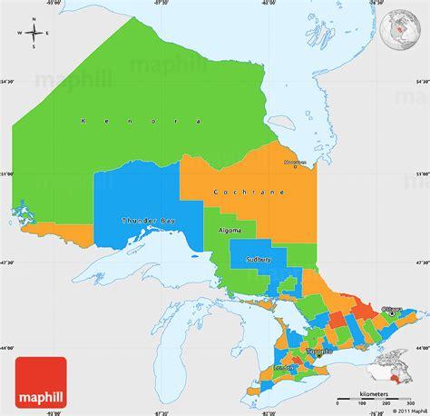 political simple map  ontario single color
