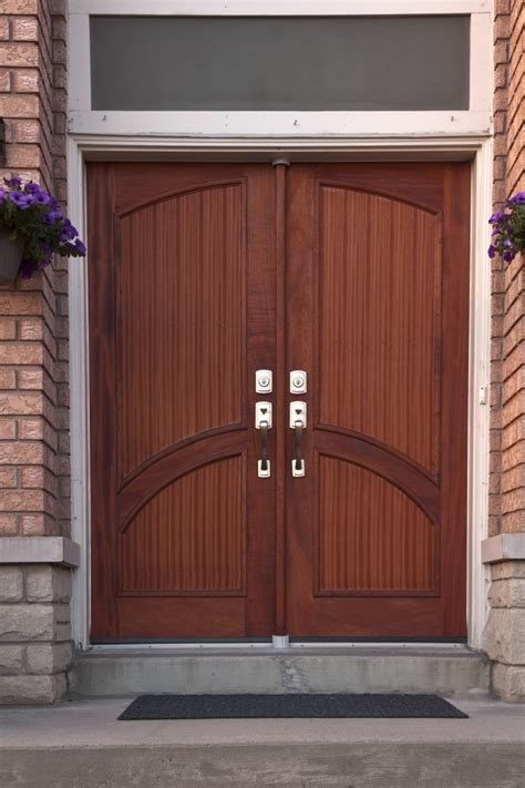 Exterior  Entrancing Schemes Of Modern Double Entry Doors