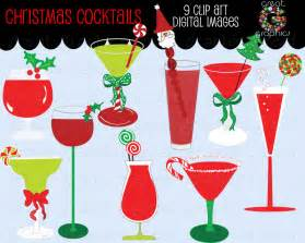 Christmas Cocktail Party Clip Art