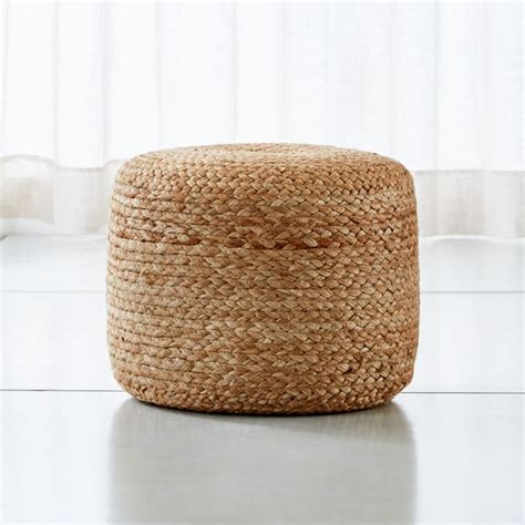 alvaro braided jute natural  pouf reviews crate